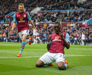 Benteke Celebrates by Steele Images